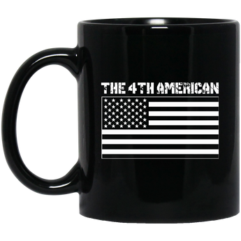 The 4th American Flag 11 oz. Black Mug