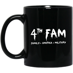 4th Fam 11 oz. Black Mug
