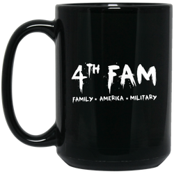 4th Fam 15 oz. Black Mug