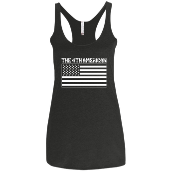 The 4th American Flag Womens Triblend Racerback Tank