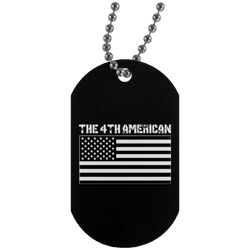 4th American Flag Dog Tag