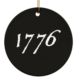 1776  Ceramic Christmas Ornament