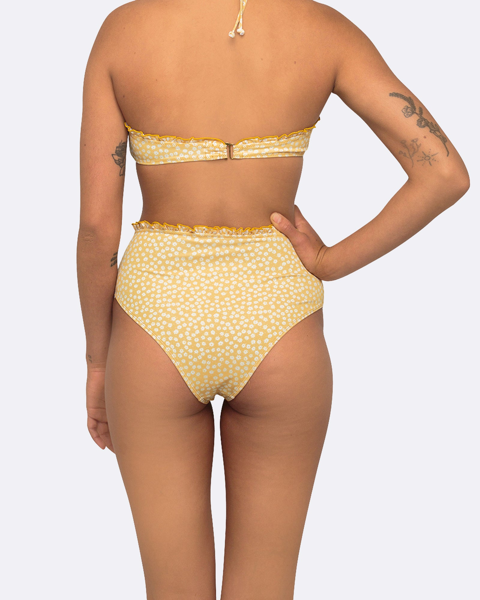 Daisy High Waisted Bikini Bottom