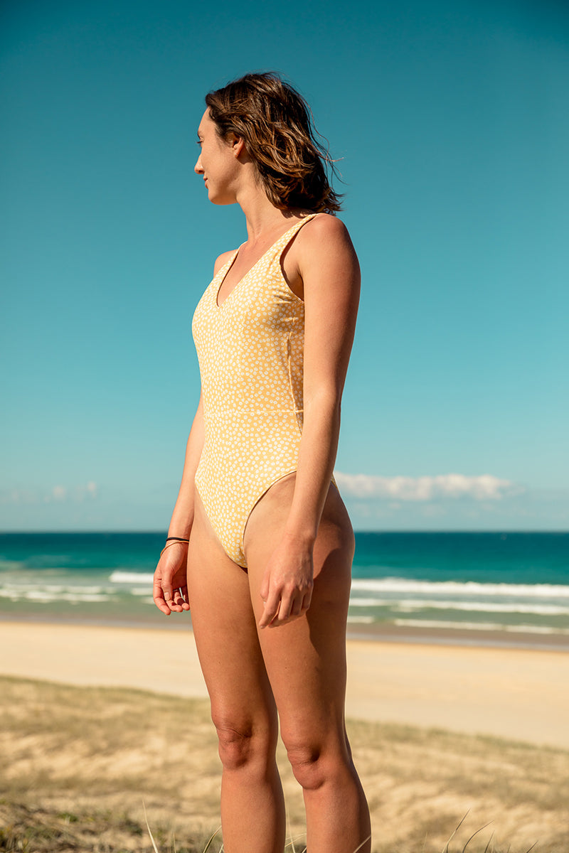 Daisy High Cut One Piece