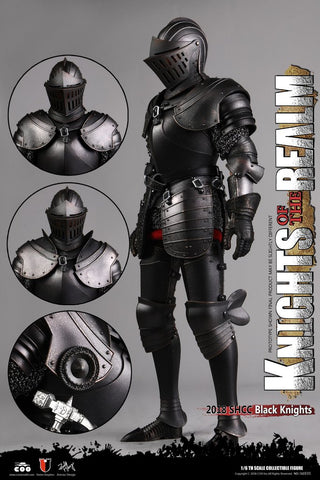 COOMODEL DIE-CAST ALLOY EMPIRES SERIES: KNIGHTS OF THE REALM (BLACK KNIGHT) – 1/6 SCALE ACTION FIGURE SE035