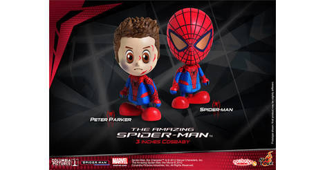 Hot Toys: Cosbaby Amazing Spiderman: Battle Damage Version