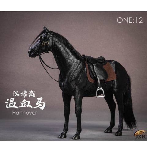 JXK Studio: JXK013 1/12th Scale Hannover Horse (Letter E, Black)