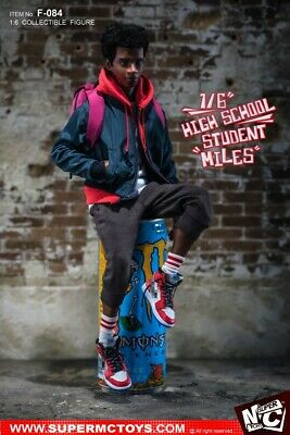SuperMcToys:  1/6th Spider-Man Miles Morales F-084 High School Student