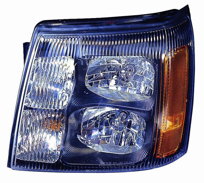 Cadillac Escalade 02 Headlight Assembly without HID Type Black - ackauto