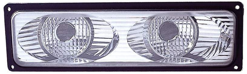 Chevy / GMC C / K 10 Truck 88-02 / Suburban / Yukon 92-99 / Blazer 92-94 / Tahoe 95-99 Parking Signal Light Unit TWIN EYES Chrome - ackauto