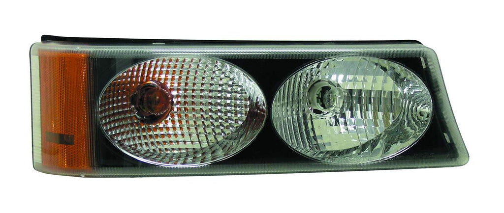 Chevy Silverado 03-06 Parking / Signal Light TWIN EYES Black - ackauto