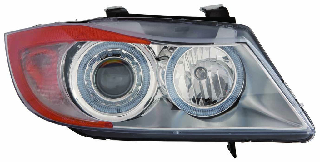 BMW 3 Sedan Series 06-08 Headlight Assembly Projector AND ANGEL EYE Chrome - ackauto