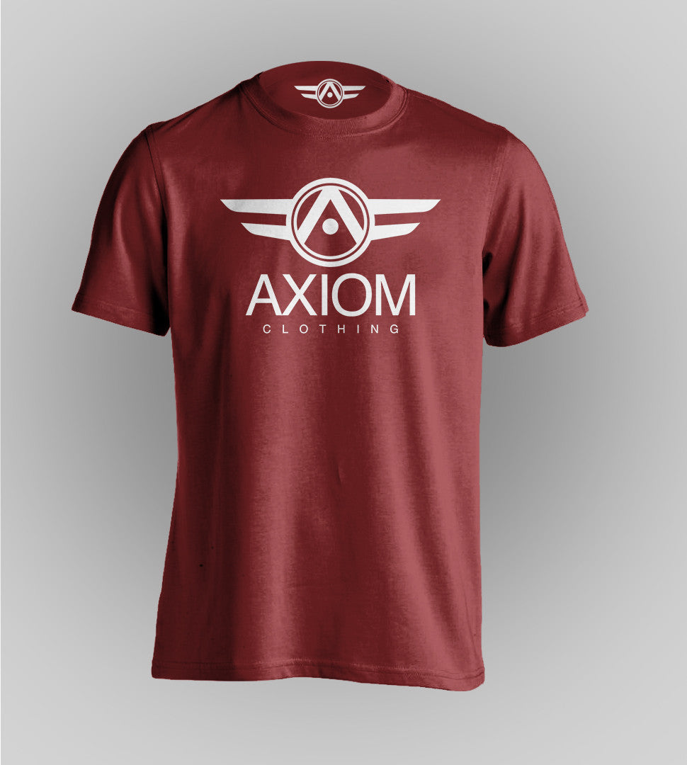 Signature Axiom Maroon Tee