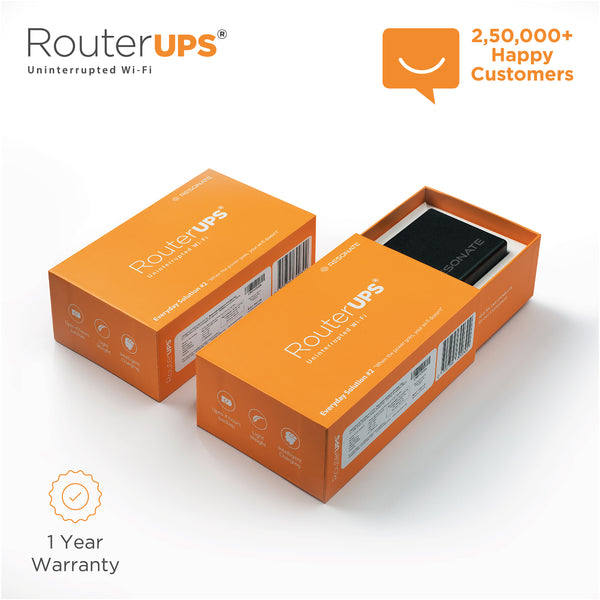 RouterUPS CRU5V - 4 Hour Power Backup for WiFi Router, Compatible with all 5V, <=2A rated Routers