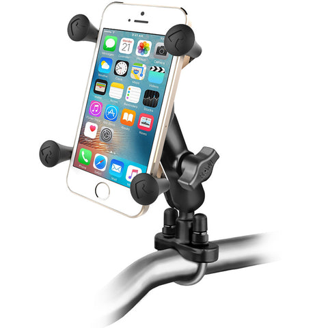 RAM Mounts Universal X-Grip Cell Phone Holder, Handlebar Rail Mount with U-Bolt Base, Zinc Coated |  RAM-B-149Z-UN7U