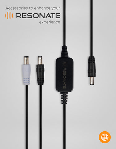 RESONATE MVC (Multi Voltage Cable) Splitter - Supports 5V, 12V devices and works with RouterUPS CRU12V2 Only