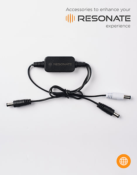 RESONATE MVC (Multi Voltage Cable) Splitter - Supports 9V, 12V devices and works with RouterUPS CRU12V2 Only