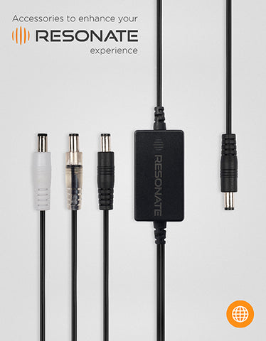 RESONATE MVC (Multi Voltage Cable) Splitter - Supports 5V, 9V, 12V devices and works with RouterUPS CRU12V2 Only