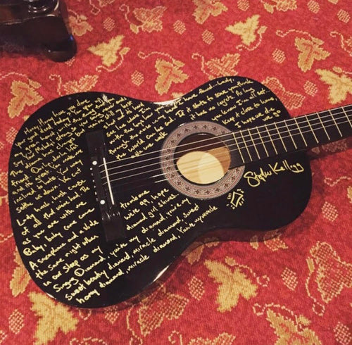 Handwritten Lyrics for the Holidays Guitar