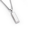 "Silver ""SuperMe"" Cube Bar Necklace"