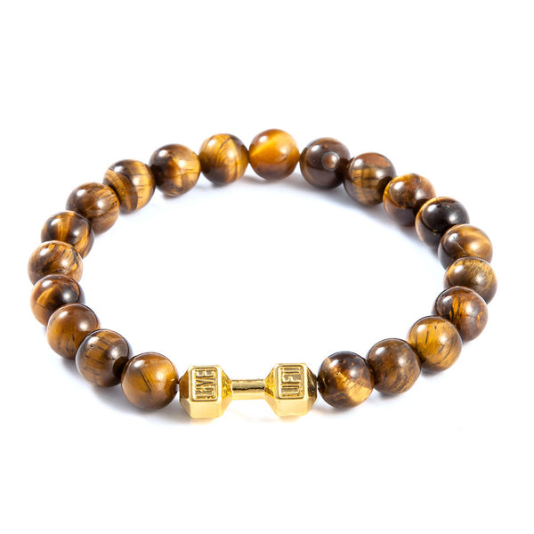 Gold Tiger Natural Stone Bracelet