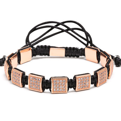 Zircon Table Bracelet - Rose Gold