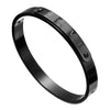 Black - Titanium Steel Couple Cuff Bracelet