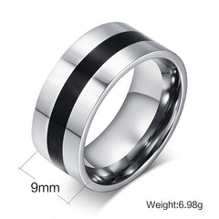 9MM Wide Stainless Steel ring