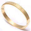 24K Rose Gold Cuff Bangle Bracelet