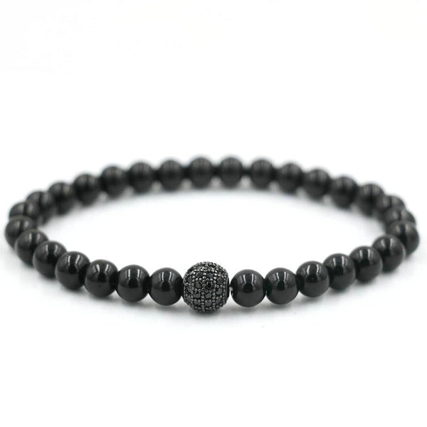 Black Agate Natural Stone Bracelet