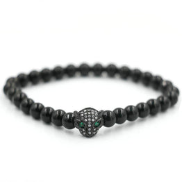 Black Cat Diamond Agate Natural Stone Bracelet