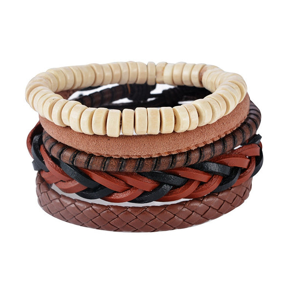 Fera Leather Bracelet Set