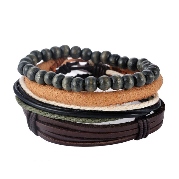 R Leather Bracelet Set FXP