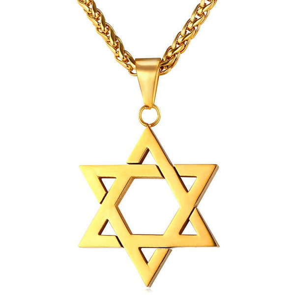 Classic Gold Magen Star of David Pendant Necklace