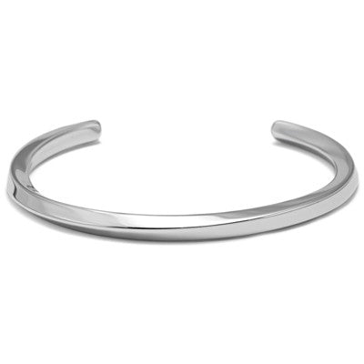 Stainless Steel C Shaped Bangle Bracelet