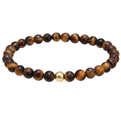 Natural stone Tiger Eye Agate bracelet