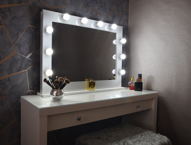 Hollywood Mirror With Light Bulbs Uk Makeup Vanity Mirror Uk