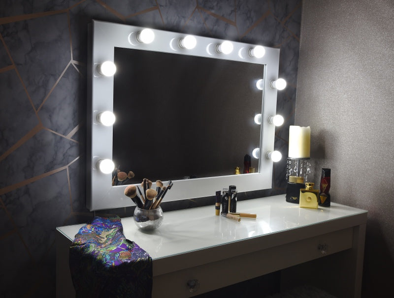 "Hollywood Mirror 36""x26"" - White"