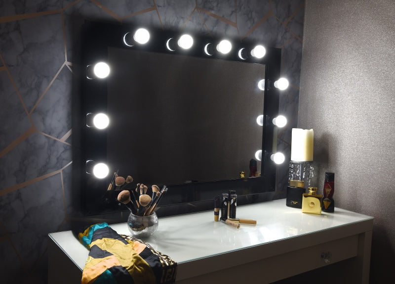 "Hollywood Mirror 36x26"" - Black"