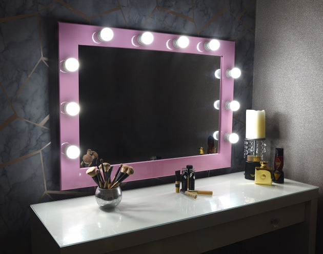 "Hollywood Mirror 36""x26"" - Pink"