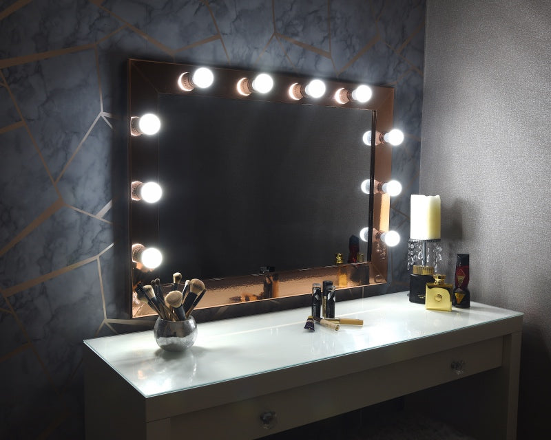 "Hollywood Mirror 36""x26"" - Rose Gold"