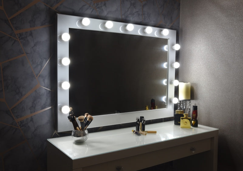 "Hollywood Mirror 42""x30"" - White"