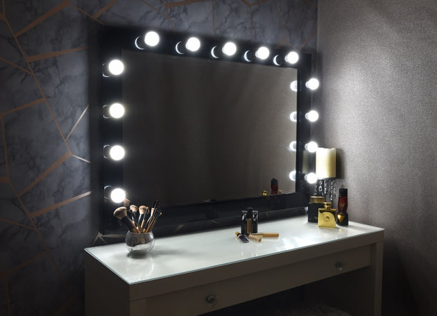 "Hollywood Mirror 42""x30"" - Black"