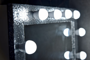 "Hollywood Sparkle Mirror 36""x26"" - Silver"
