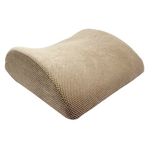 "Magasin Ergonomic Back Support Memory Foam Cushion Pillow - 15"" x 15"", Beige"