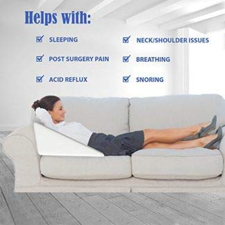 Magasin Multipurpose Memory Foam Wedge Pillow for Sleeping, Leg Elevation, Back & Neck Pain Relief