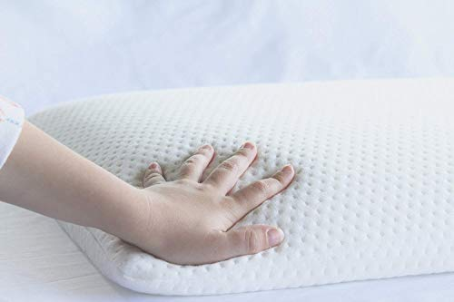 Magasin Memory Foam Ultra Slim Stomach Sleeper Pillow - 15x24x2.5 inches (Pristine Hues)