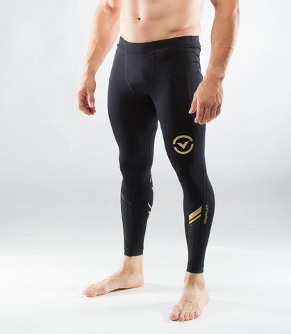 Men's Bioceramic™ Grappling Compression Spats (AU19)- VIRUS - Black/Gold