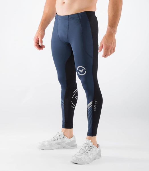 Men's Stay Cool Grappling Compression Spats (CO19)- VIRUS - Navy/Black