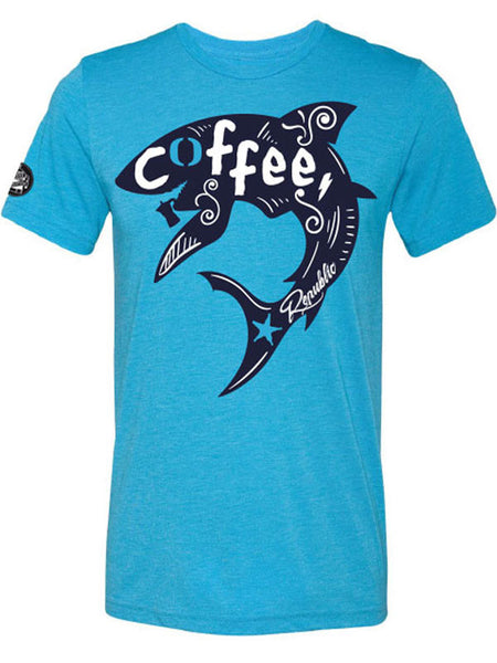 Caffè e Creatina triblend competitor tee SS17 - Coffee & Waves - Aqua